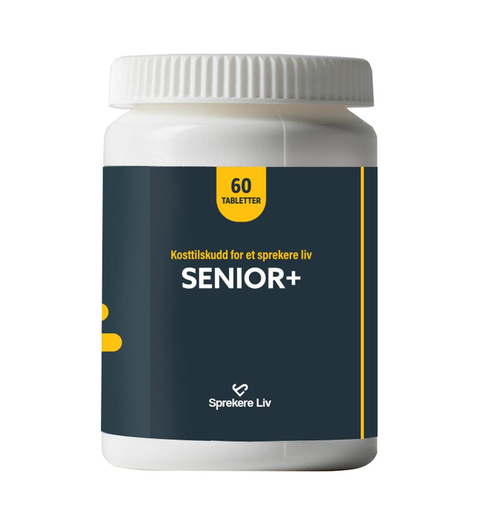 Senior+ kosttilskudd | Sprekere Liv